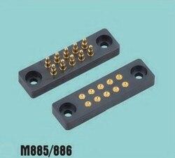10P conector de sonda de dedal de resorte de primavera aguja conductivo conector electrónico choque M885/10 P