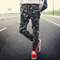 Autumn new hot mens casual pants men tide feet Slim cotton straight long pants youth fashion personality Camouflage pants casual