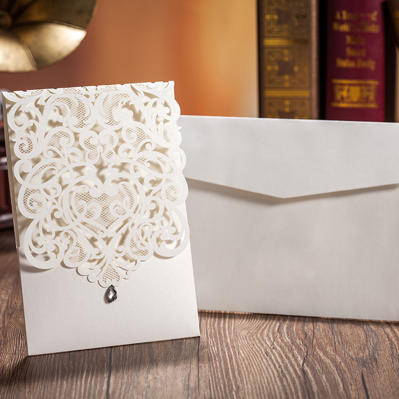 Laser Cut Wedding Invitations Blank Invitation Cards For Birthday With Rhinestone Party Supply Stock In Usa Cw5001 Event From Home Garden On