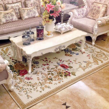 WINLIFE British Simple Rural Countryside Carpet for Living Room Flower Bedroom Rugs and Carpets Door Mat Coffee Table Area Rug