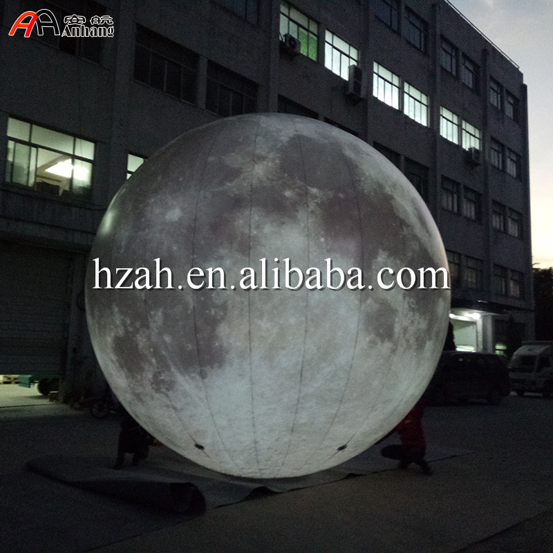 Free Shipping Giant Lighted Inflatable Moon Balloon giant inflatable balloon for decoration and advertisements