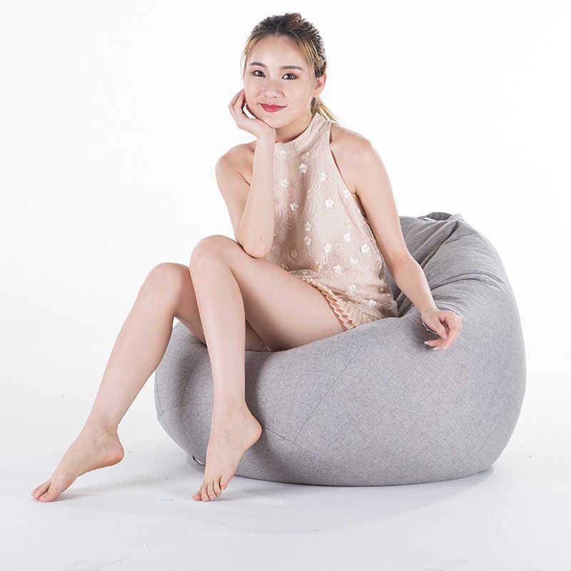 Bean Bag чехол для дивана без наполнителя гостиная спальня диван-кровать ленивый Повседневный татами Beanbag стул чехол для дивана пуф линия ткань