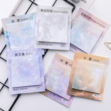 Kawaii sticker Cute Planets Creative Memo Pad Sticky Notes Notebook Stationery Paper School office supplies bullet journal(China)