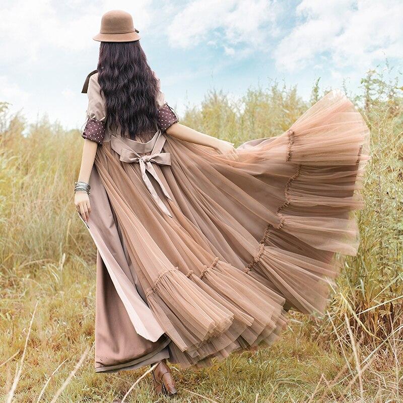 Gaze Mode Et Survêtement Gratuite Boshow Automne Longue Maxi Vintage Sl Robes Printemps Femmes Patchwork Livraison Tranchée Nouvelle Pour 2018 ZTqSdS