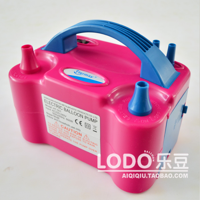 Free Shipping 2016 New Double Hole HT-501 High Voltage AC Inflatable Electric Balloons Pump Air Inflator Machine, Free Shipping
