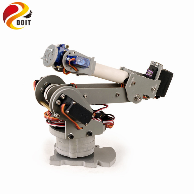 Official DOIT 6DOF Controlled 6-axis Parallel-mechanism Laser Cut Acrylic Robot Arm PalletPack Industrial Robot Arm 6 dof robot arm six axis manipulators industrial robot model robot without controller mg996r