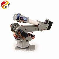 Official DOIT 6DOF Controlled 6 axis Parallel mechanism Laser Cut Acrylic Robot Arm PalletPack Industrial Robot Arm
