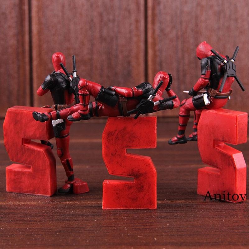 Deadpool Mobil Mainan Figur