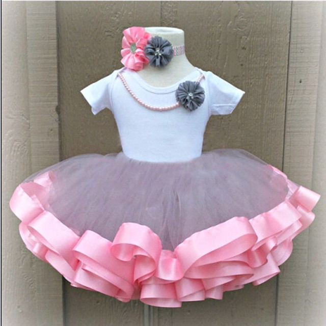 Baby Girls Skirts Tutu Toddler Girl 3 Layer Tulle Pink Ribbon Dance Cute