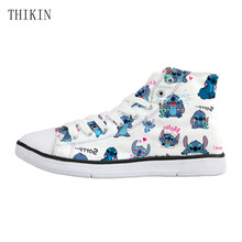 Woman Casual Canvas Shoes Lilo Stitch High Top Shoe