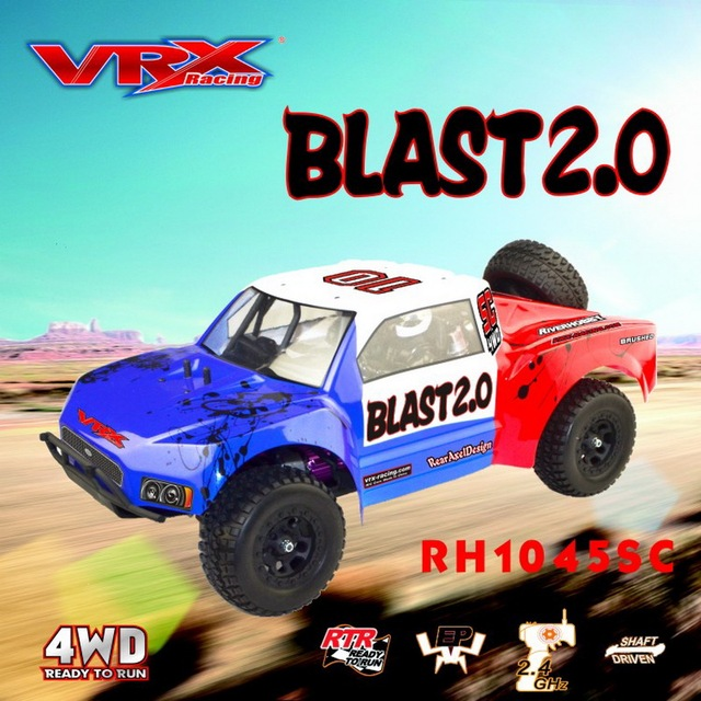 Vrx Racing Rh1045sc 1 10 Scale 4wd Electric Short Card Truck Rtr 45a Esc 3650 Motor Rc Car Without Battery Charger