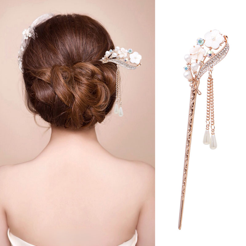 New Women Elegant Secluded Orchid Bobby Pin Fashion Hairpin Rhinestone Hair  Stick Hot Sale-in Hair Clips   Pins from Beauty   Health on Aliexpress.com  ... a94806e42918