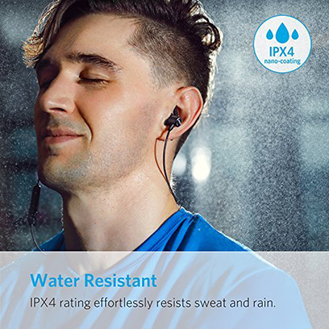 Lightweight Bluetooth 4.1 Earbuds IPX4 Water Resistant Sport Headset with Mic Anker SoundBuds Slim Wireless Headphones