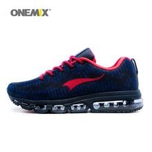 Onemix heren sportschoenen vrouwen lopen ademend mesh mannelijke outdoor sneaker lace up zapatos de hombre volwassen schoenen maat 6.5-12