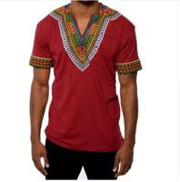 Mens Hipster Hip Hop African t shirts fashion new casual short sleeve men shirt Crew Neck Elongated print T Shirts Tops