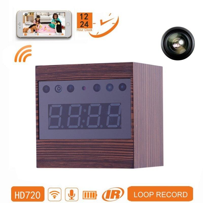 EDAL Alarme Relógio Da Câmera 1080 P Sem Fio Câmera de Vigilância Home Security Camera Recorder com Visão Noturna Controle Remoto