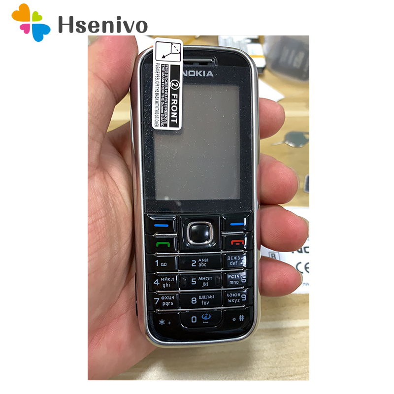 original Nokia 6233 mobile phone with 2MP camera 3G loud speaker support Russian menu Russian keyboard refurbished
