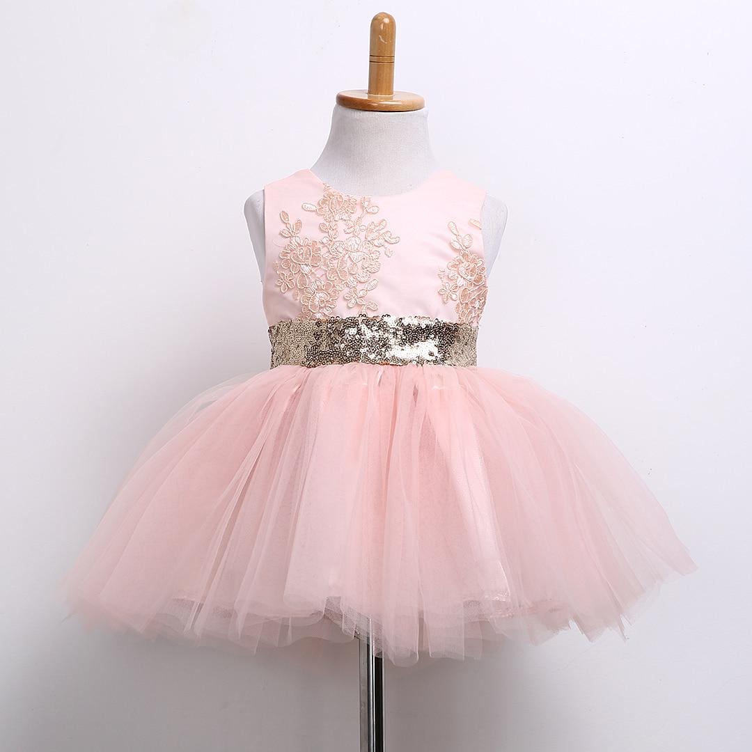 2017 Princess Girls Dress Newborn Baby Dress Bow Ball Gown Party Dresses Robe Enfant Fille Toddler Disfraces Infantiles Princesa