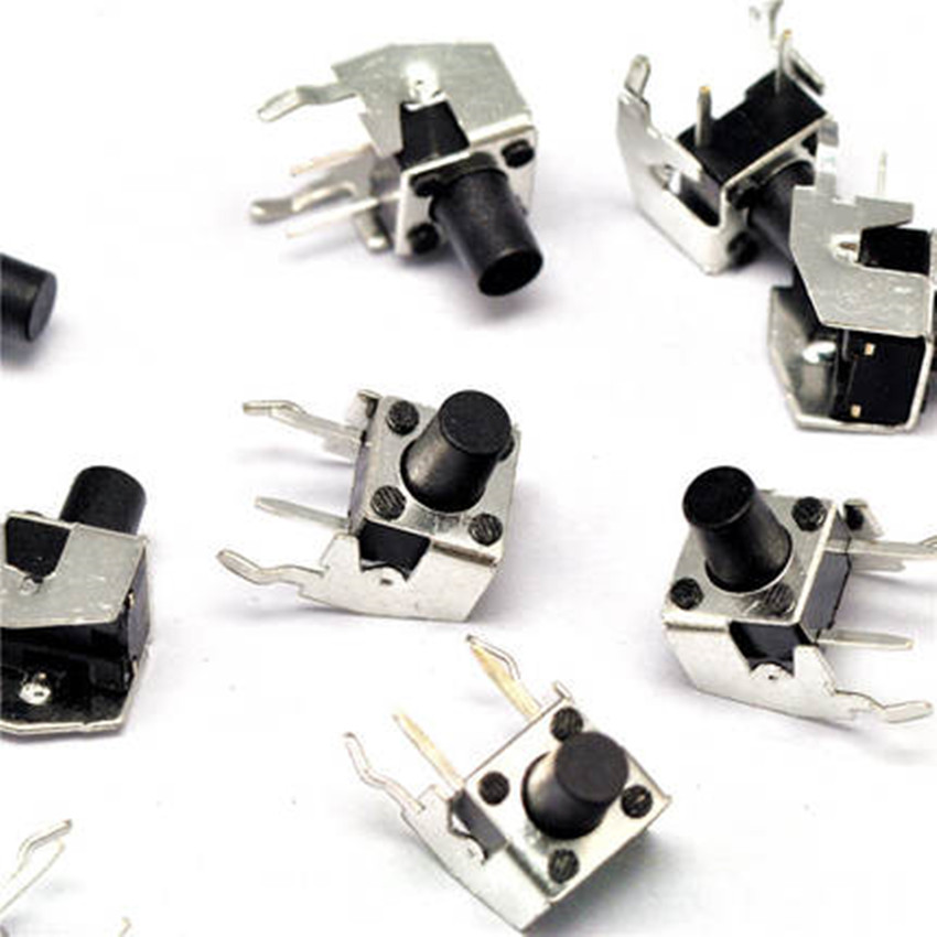 10PCS 6x6x8.0mm Right Angle 2 Pin Momentary Tactile Tact Push Button Switch kinklight 08210 01 3000 6000k