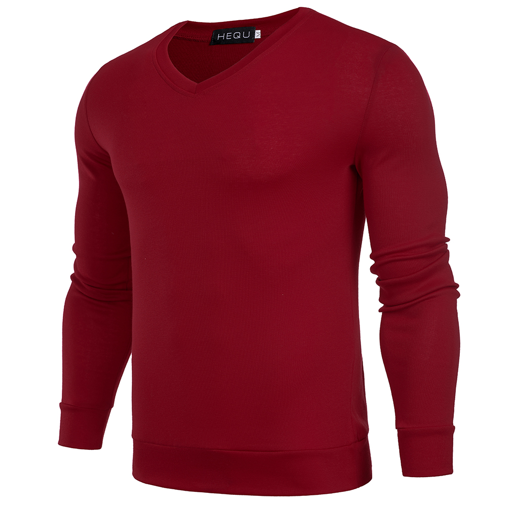 Solid Color Pullover Men V Neck Sweater Men Long Sleeve Mens Sweaters 4 colors Casual Tops Brand Thin Knitwear Pullovers