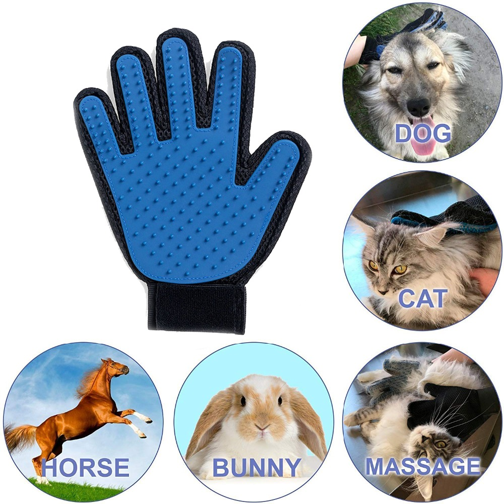 Glove For Cat Cat Grooming Pet Dog Hair Removal Deshedding Brush Comb Glove For Pet Dog Finger Cleaning Massage Glove For Animal
