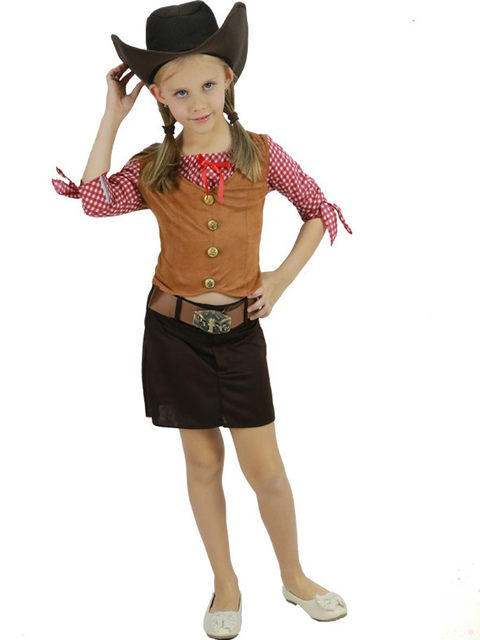 halloween costumes for girls performance wear girls costumes cartoon cowboy cowgirl costume cowgirl party supplies novelty  sc 1 st  Aliexpress & Online Shop halloween costumes for girls performance wear girls ...