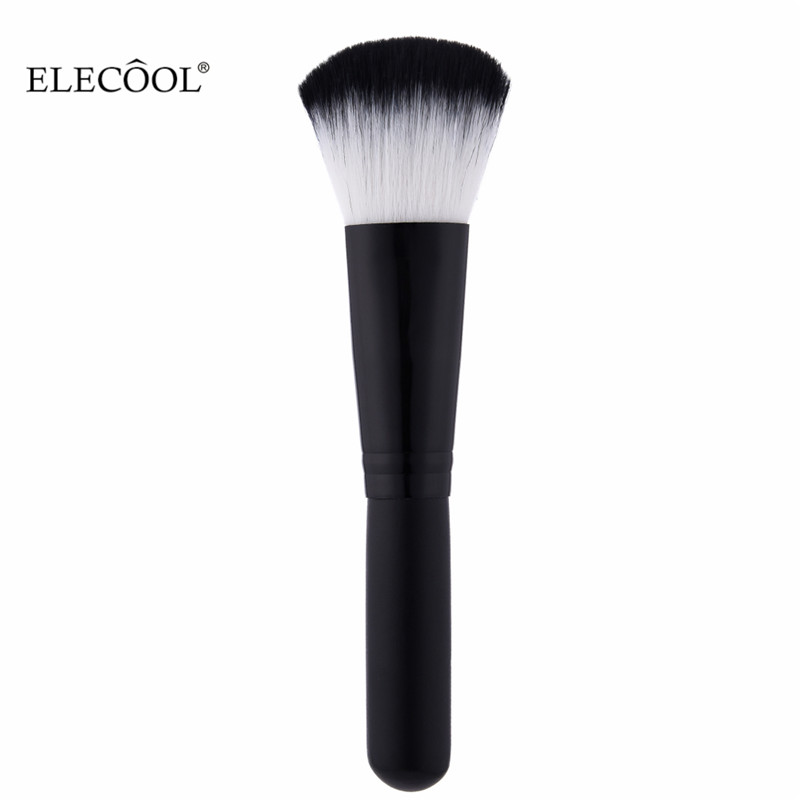 ELECOOL 1pcs Black Loose Powder Foundation Brush Makeup Brushes Nylon Hair Wood Handle Make up Brush Beauty Cosmetic Tool