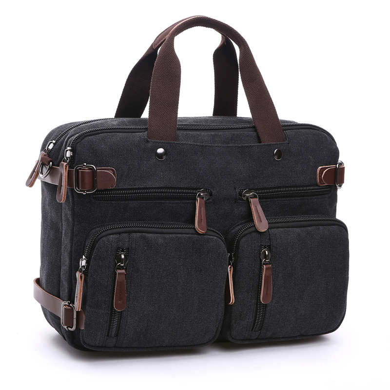 Men s Canvas vintage Casual Briefcase man Business Shoulder Messenger Bag men Laptop Handbag male Messenger
