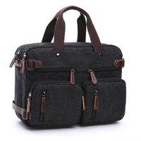 Men's Canvas vintage Casual Briefcase man Business Shoulder Messenger Bag men Laptop Handbag male Messenger Crossbody Bags