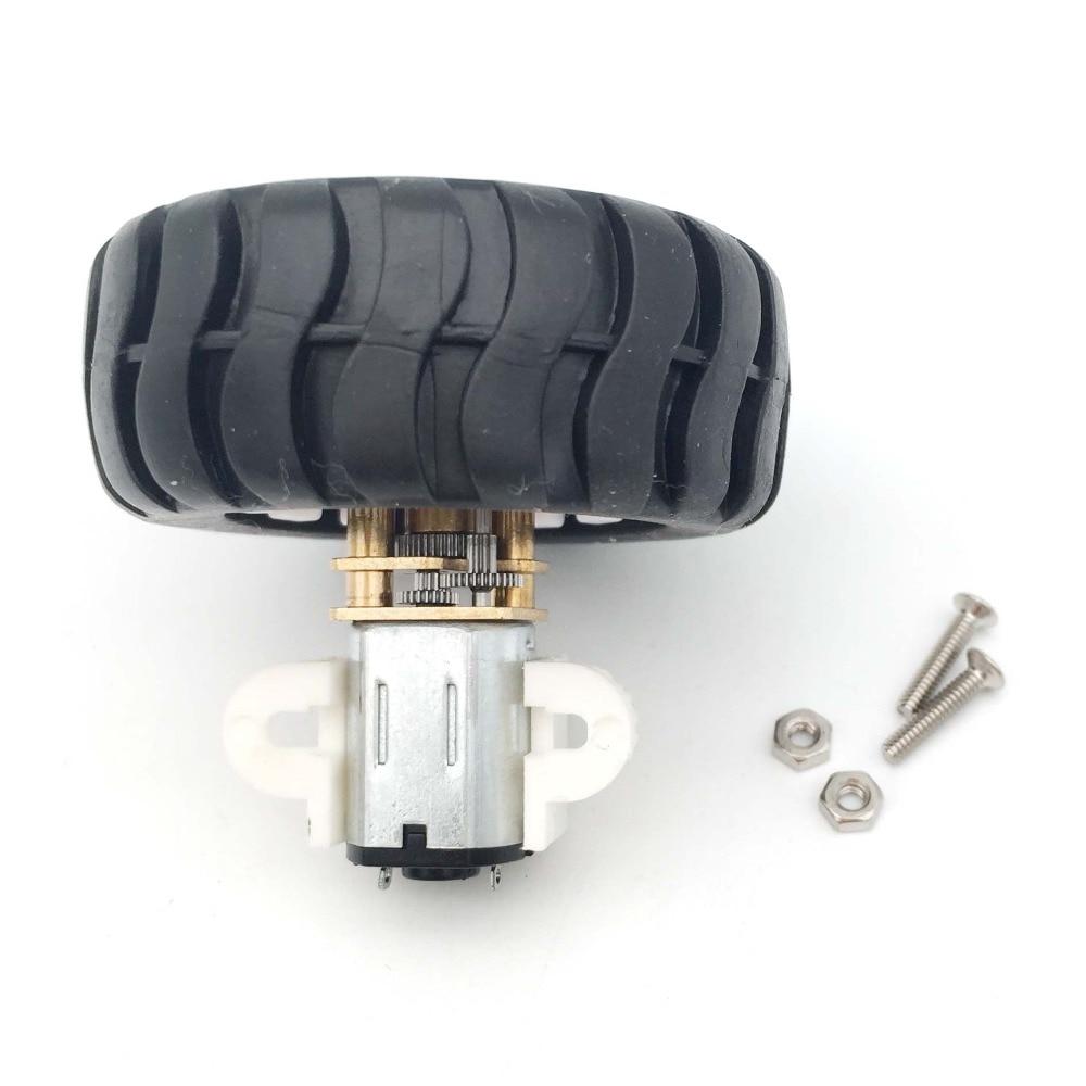 DC 3V 6V 12V Encoder Motor Gear N20 Electric Micro Gear Motor With 43MM Wheel Screws Mounting Bracket Coupling Kit