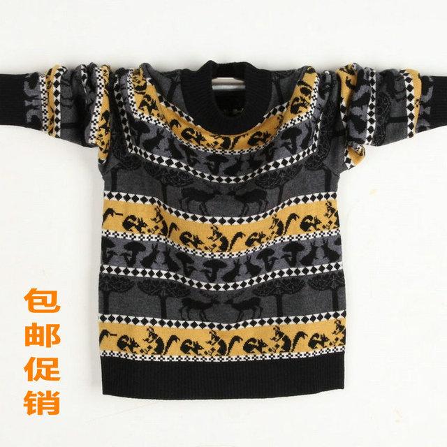 Ano da criança casaco de outono e inverno animal cervos camisola crianças camisola