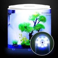 5L Mini Table Fish Aquarium With Filter LED Ecology Water Fish Tank Usb Mini Nano Desktop Goldfish Guppy Arcuated Pet Supplies