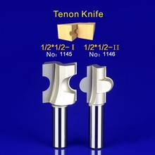 2Pcs Tongue & Groove Router Bit Set 1/2 Inch Shank tenon knife woodworking  1145-1146