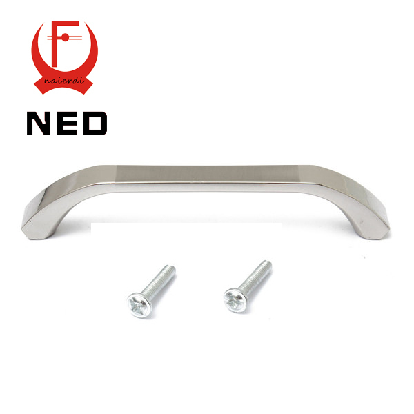 NED Brand 96mm Hole Distance Classical Home Cabinet Door Handles Zinc Alloy Handle Drawer Wardrobe Pull Handle Knobs With Screws furniture drawer handles wardrobe door handle and knobs cabinet kitchen hardware pull gold silver long hole spacing c c 96 224mm