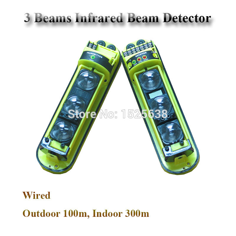 100 meter Wire Outdoor Infrared Barrier Photoelectric Beam Detector for Home Gsm font b Alarm b
