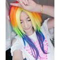 Sofeel My Little Pony Rainbow Cosplay Wigs long straight  synthetic wigs yuri on ice perruque lolita wig