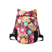 2018 college style sport soft Zipper opening backpack women flower Luxury bags Large capacity waterproof double shoulder bags(China)