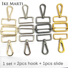 IKE MARTI 4 Sets Hook Slide Buckle Suit Hanger Clasp for Webbing Diy Strap Belt Metal Bag Parts Assessoires Snap Hooks Hardware marti pellow swansea