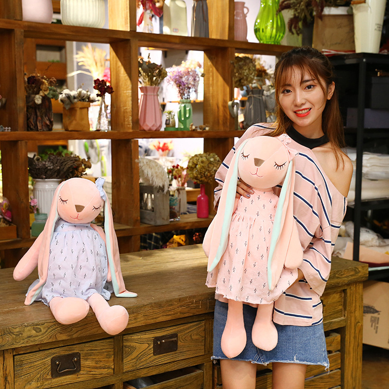 Long Ears Cute Rabbit Doll Baby Soft Plush Toys For Children Rabbit Sleeping Stuffed Plush Animal Baby Toys For Infants in Stuffed Plush Animals from Toys Hobbies