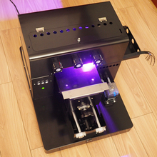 A4 Small size UV LED Flatbed Printer  with a set of UV ink and cleaning liquid for Phone Case ,T-shirt wooden, leather,metal