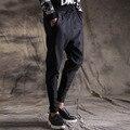 2017 новая коллекция весна осень мужчины повседневные брюки мода хип-хоп гарем брюки мужчины упругой хип-хоп бегуном штаны сращивания ноги брюки 8408