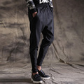 2017 new spring autumn men casual pant fashion hiphop harem pant men elastic hiphop jogger sweatpants splice feet trousers 8408