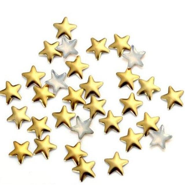 100pcs hot sale stars nail meta Rivets nail decoration nail tool gold silver 3mm/5mm