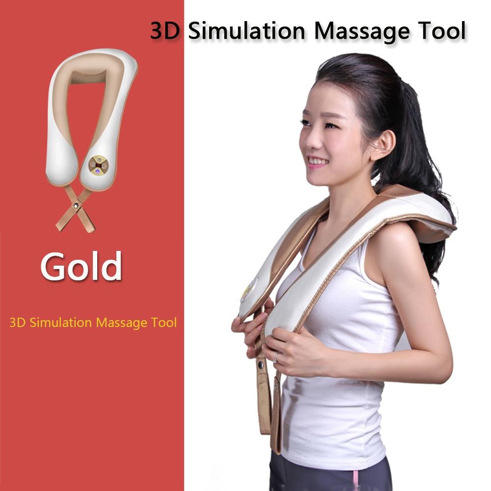 New Infrared heating massager Kneading U Shape Electrical Heated Massage Shiatsu Back Neck Shoulder Massager Health Care C757