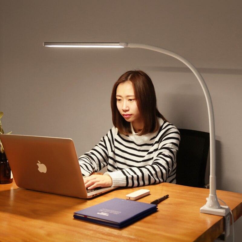13 ワット柔軟なグースネックデスク Led ランプクリップデスクトップライトリモコンと 5 輝度と 5 色温度  グループ上の ライト & 照明 からの デスクランプ の中 2