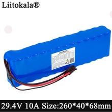 Liitokala – batterie lithium-ion pour vélo électrique, 24V, 10ah, 18650 mAh, 29.4V, 10000mAh, avec protection BMS