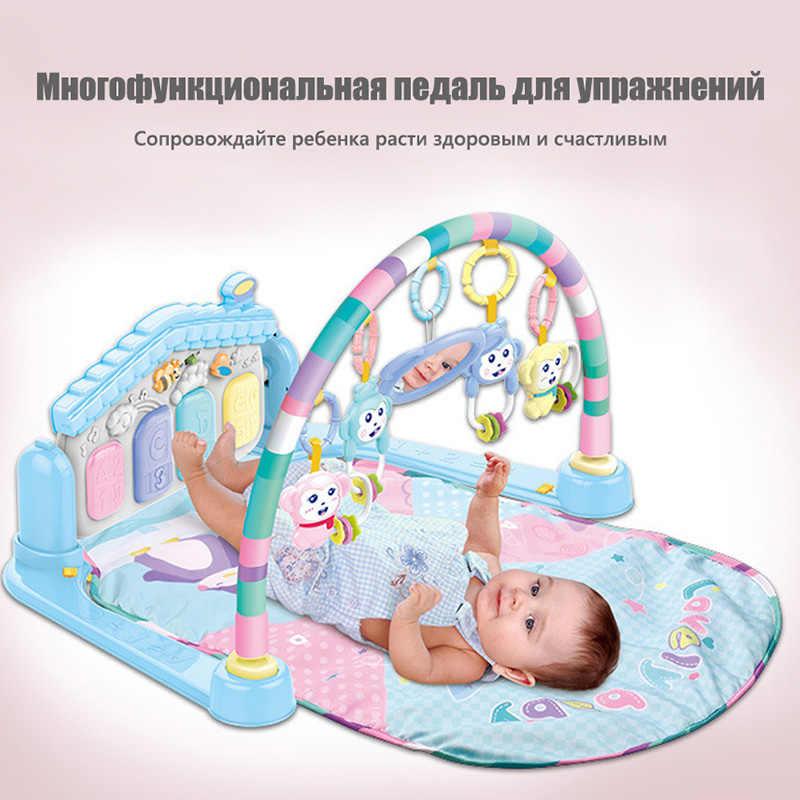 Детский игровой коврик детский коврик Развивающий Пазл ковер с фортепианной клавиатурой и милым животным Playmat детский спортивный ползающий коврик для активности игрушки