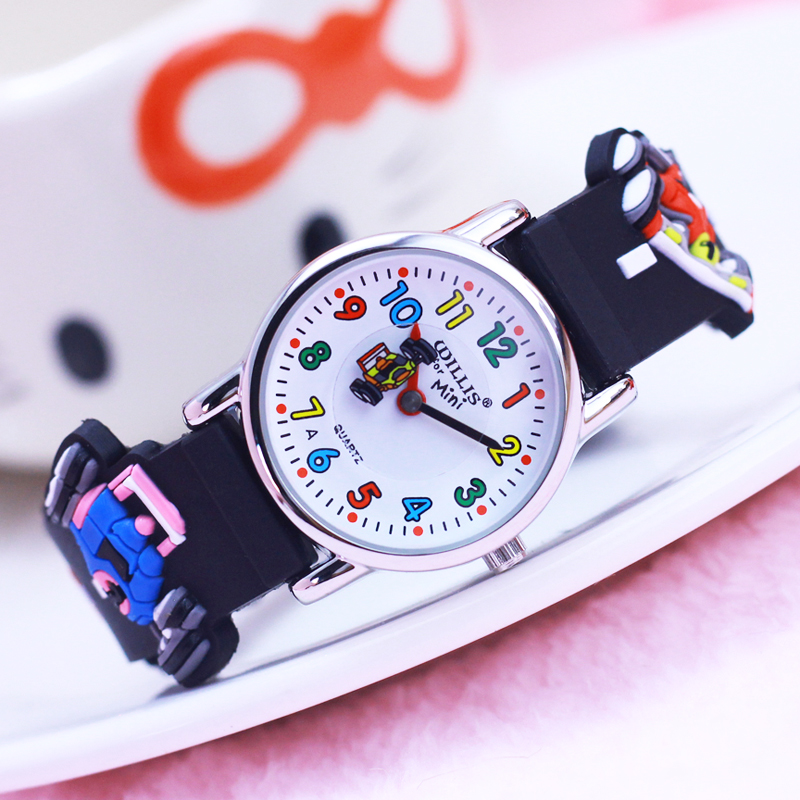 2018 New Students Children Boys 3D Motorcycle Silicone Quartz Watches Cartoon Pointer Personality Water Resistant Sports Watch