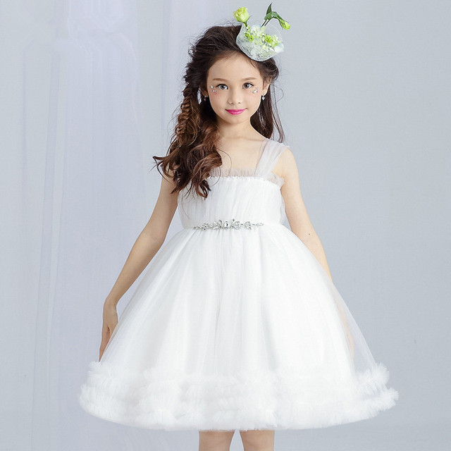 White Flower Girls Dresses Princess Sleeveless White Christmas Costumes Girls Clothes 4 6 8 10 12  sc 1 st  AliExpress.com & White Flower Girls Dresses Princess Sleeveless White Christmas ...