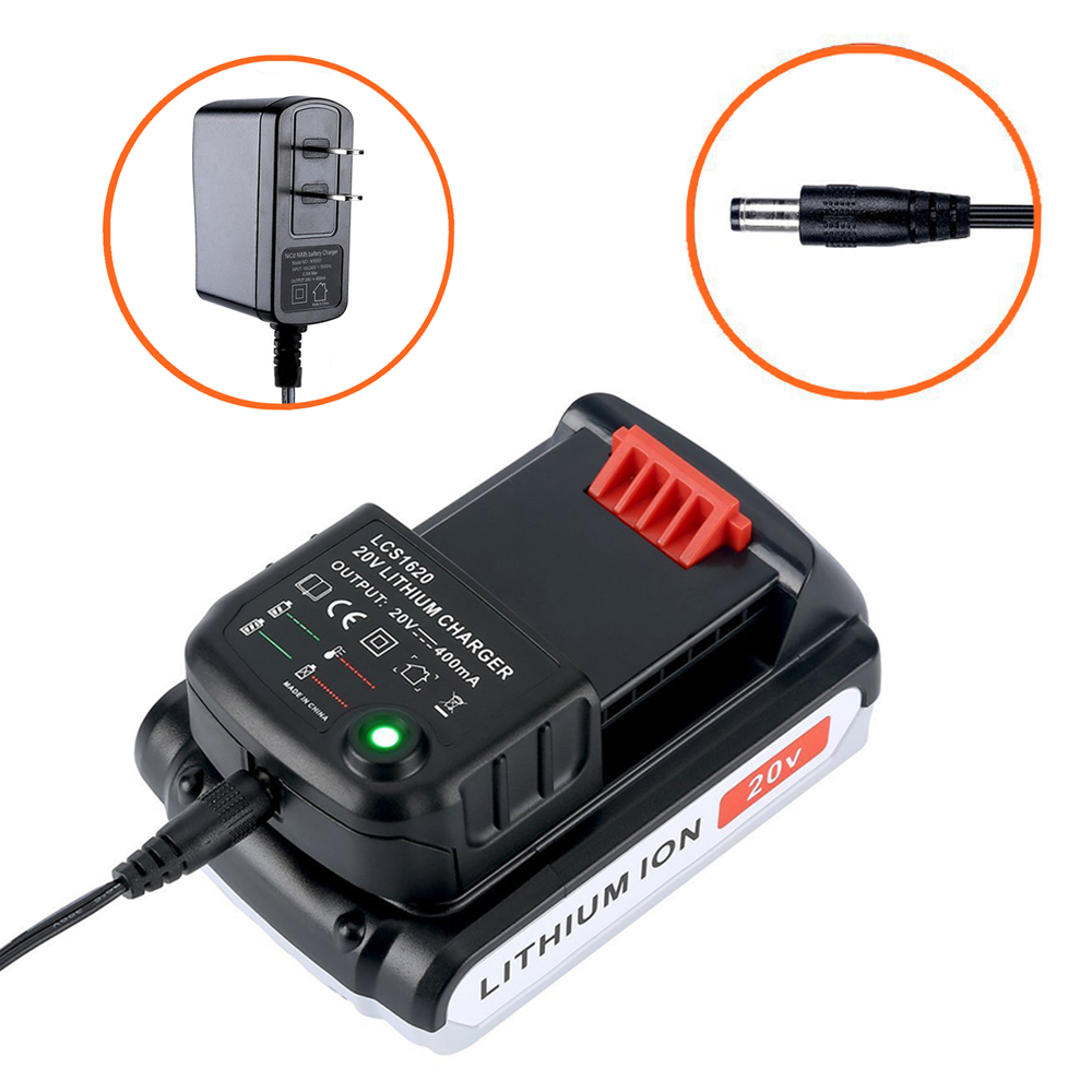 Lcs1620 Lithium Battery Charger Black & Decker Rechargable 20v 0.4a 400ma